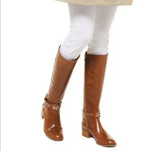 🆕MICHAEL KORS Tall Heather Leather Riding Boots
